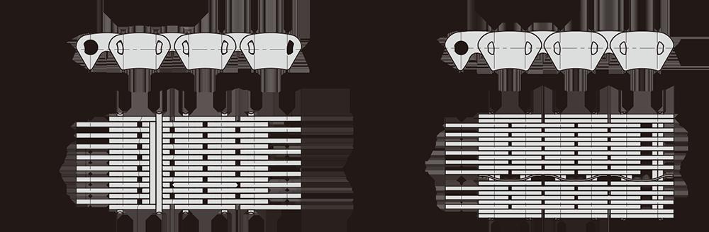Automobile transfer case/transmission chain