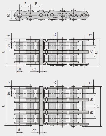 Escalator drive chains