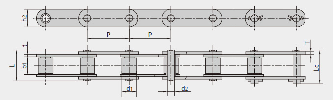 Wood conveyor chains