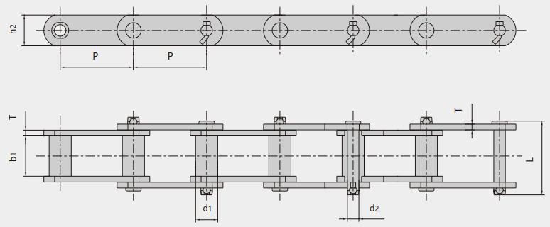 Steel sleeve chain for engineering