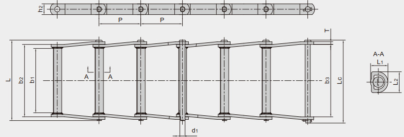 Welded-steel-type drag chains