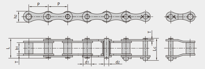 ZGS38 combine harvester chains