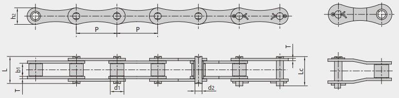 S type, C type steel roller chains