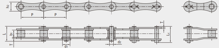 ANSI series agricultural chains